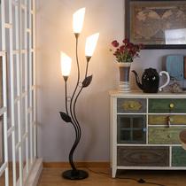 北欧简约创意书房落地灯设计师样板房卧室石材落地灯民宿客房地灯