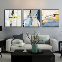 手绘画客厅装饰画油画北欧三挂画现代简约抽象画过道卧室沙发壁画