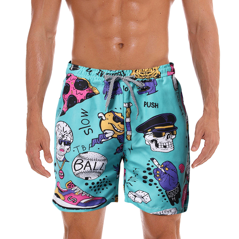 Xz304b-k167-p20 new running style beach shorts mens foreign trade mens casual shorts outer model