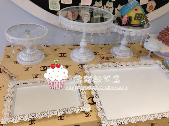 Белый торт из кованого железа стоять торт, выпечки десерт пластина фрукты в Вест-Пойнт поддон шельфа стойку прозрачный продажи от Kupinatao