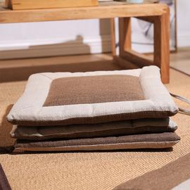 日式方形坐垫 棉麻加厚回字形坐垫 飘窗/榻榻米/餐椅 搭配搭档图片