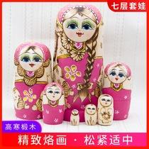 正版俄罗斯特产套娃7层创意抖音礼物中国风可爱儿童益智玩具娃娃