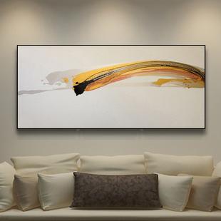 客厅原创装饰画油画抽象画现代简约极简金色现代写意轻奢手绘挂画