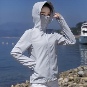 防晒衣女2021新款冰丝透气防紫外线网红防晒服短款夏季宽松薄外套