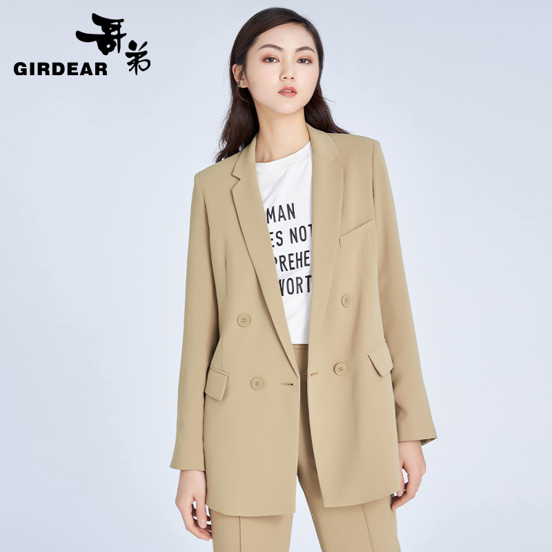 Brothers women 's wear 2020 new commute occupation OL suit temperament long sleeve coat suit female 8400049