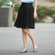 Brother's and Brother's Women's Wear Summer 2019 New High-waist and Knee Lace Umbrella Skirt Commuter A-shaped Skirt Half-length Skirt 8200015