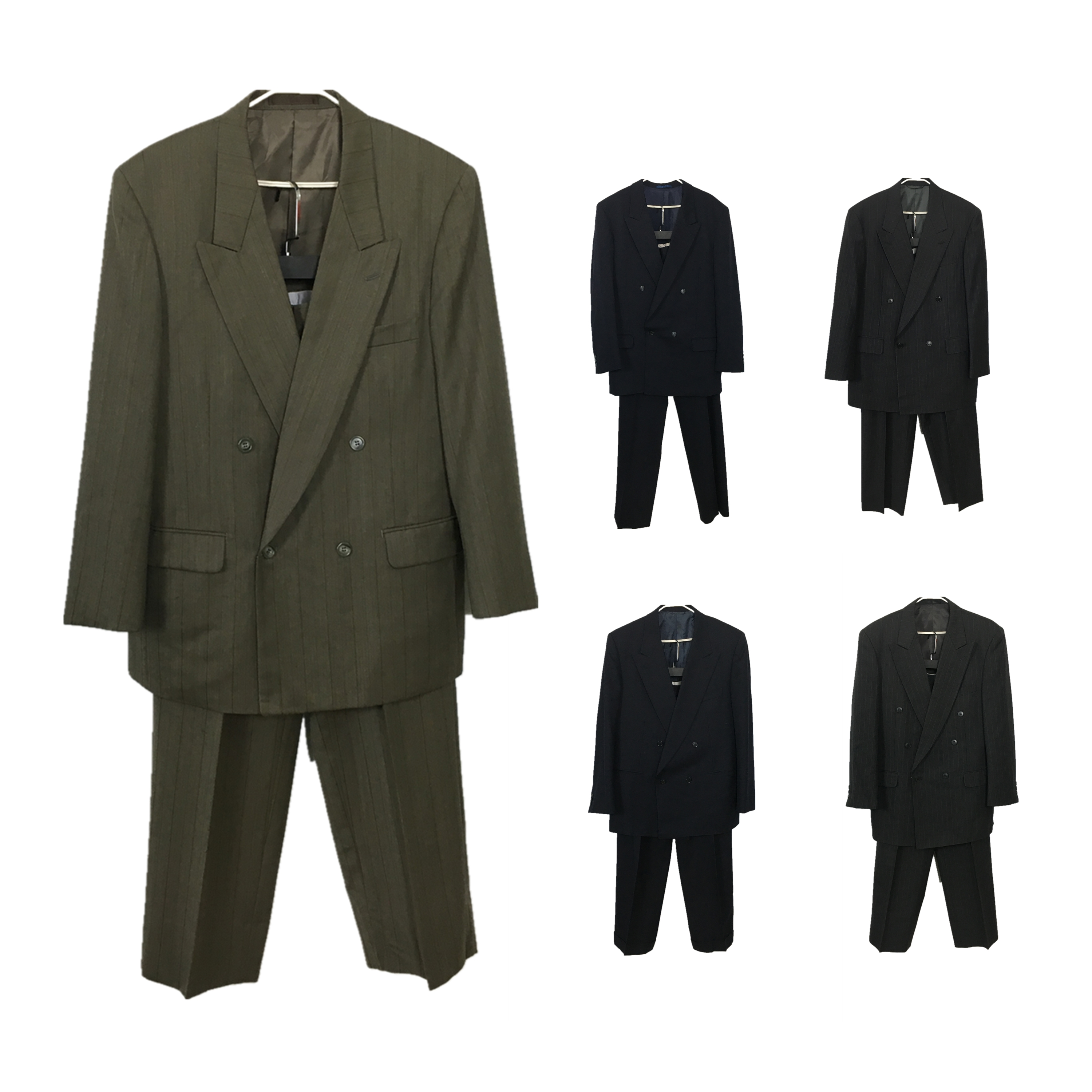 Vintage ancient Japanese wool suit British casual mens two-piece double breasted suit x1873