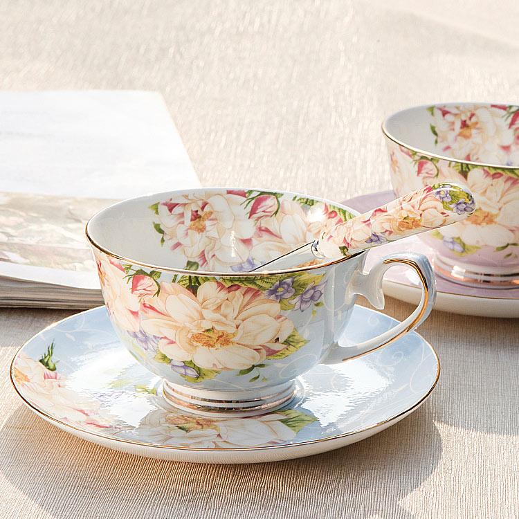 英式骨瓷咖啡杯套装欧式下午茶茶具创意陶瓷简约家用红茶杯
