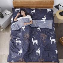 旅行隔脏睡袋纯棉便携式室内双人单人宾馆旅游酒店防脏被套床单成