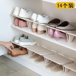 省空间收纳鞋架双层鞋托架柜子宿舍神器鞋柜整理放鞋子拖鞋置物架