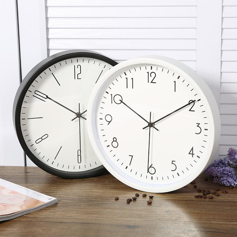 Нордический простой колокол современный семья немой настенные часы гостиная спальня мода домой вешать стол металл кварц колокол круглый