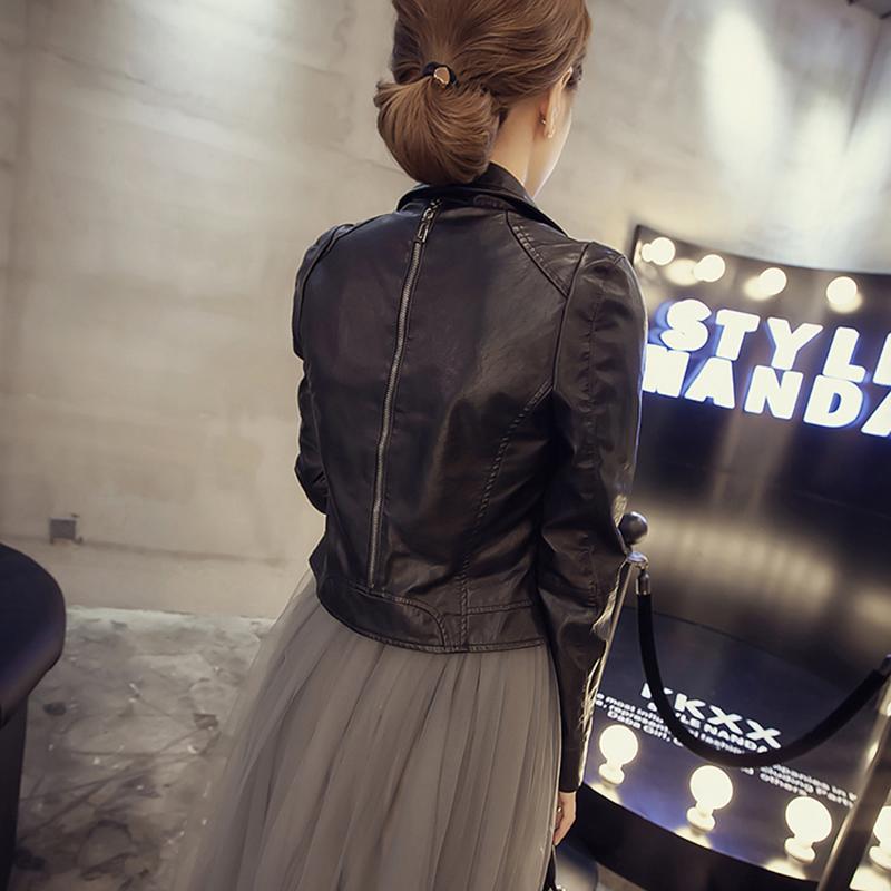 皮衣外套女短款2020年春秋新款韩版女士机车服黑色秋季小PU皮夹克