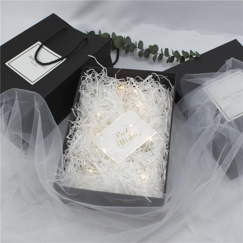 发光礼盒生日衣服包装盒简约礼物盒子INS风男生礼物盒大号新年盒