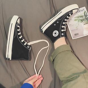 帆布鞋男高帮姜黄色海军蓝黑色经典复古三星标百搭潮流莆田1970s