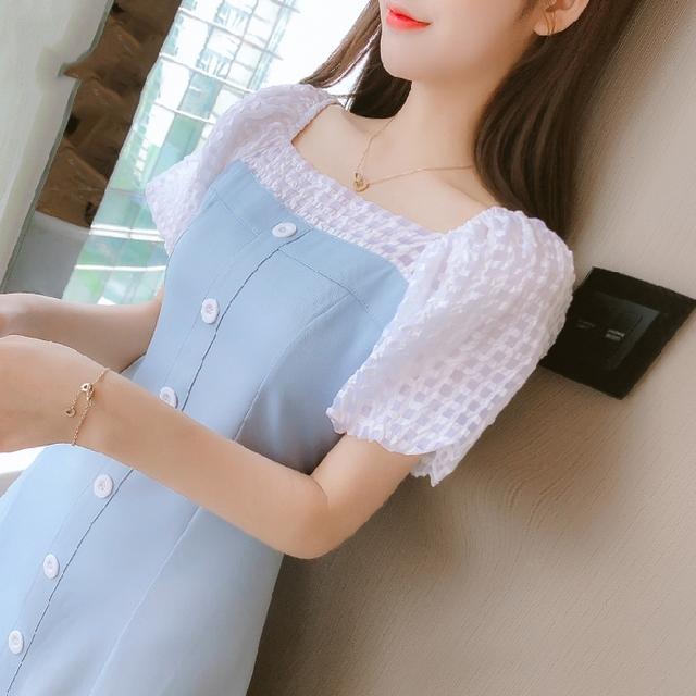 收腰显瘦气质小个子雪纺连衣裙子女装2021年新款夏天仙女超仙森系