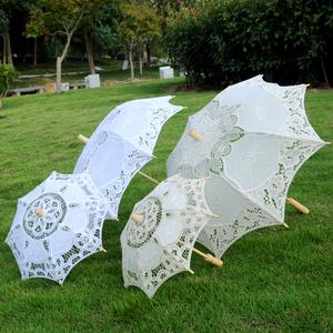 新娘伞镂空白色婚纱拍照女孩公主伞
