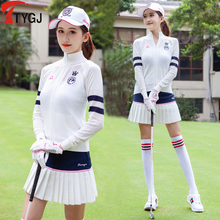 New autumn and winter Golf women's knitting long sleeve shirt Golf collar coat top fashion sports suit