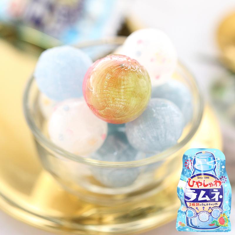 限时抢购町田零食*日本进口*雀本铺4味清凉玻珠汽水苏打&盐味西瓜糖果硬糖