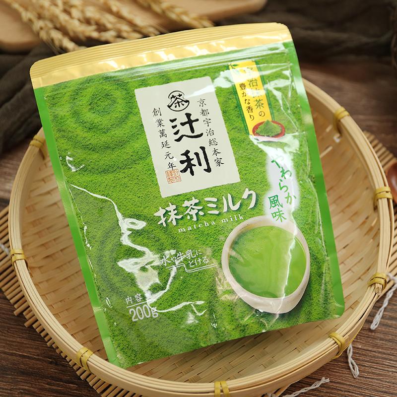 日本进口冲饮 百年老店�y利京都宇治抹茶牛奶固体饮料200g 0197