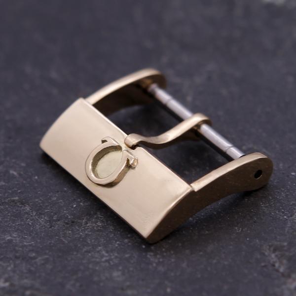 东魁真金针扣18K黄金适用欧米茄劳力士积家万国925银手表扣表带扣