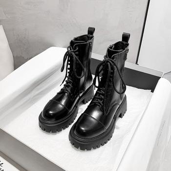 马丁靴2020年新款英伦风厚底秋鞋子