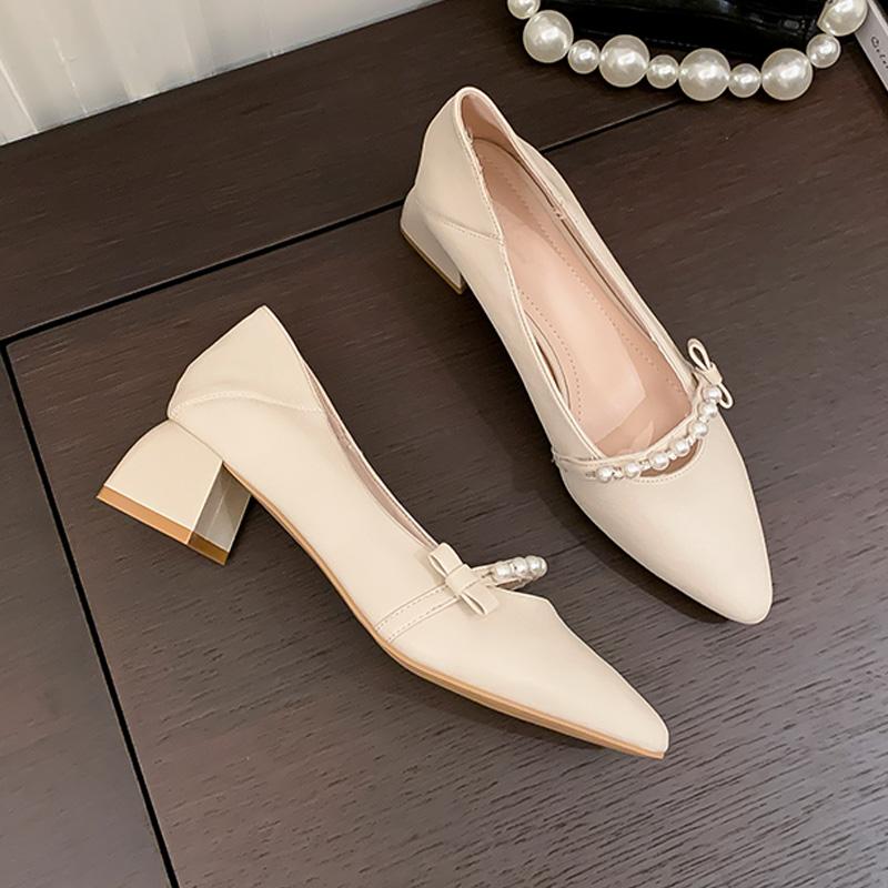 艾斯臣网红爆款一脚蹬懒人单鞋女2021年春夏季新款仙女风时尚百搭