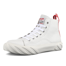 Hip-Up Shoes, Men's Genuine Leather, Small White Shoes, Middle-Up White Shoes, Korean Trendy Shoes, Hip-Up Shoes, Hip-Up Shoes, Shoes and Shoes