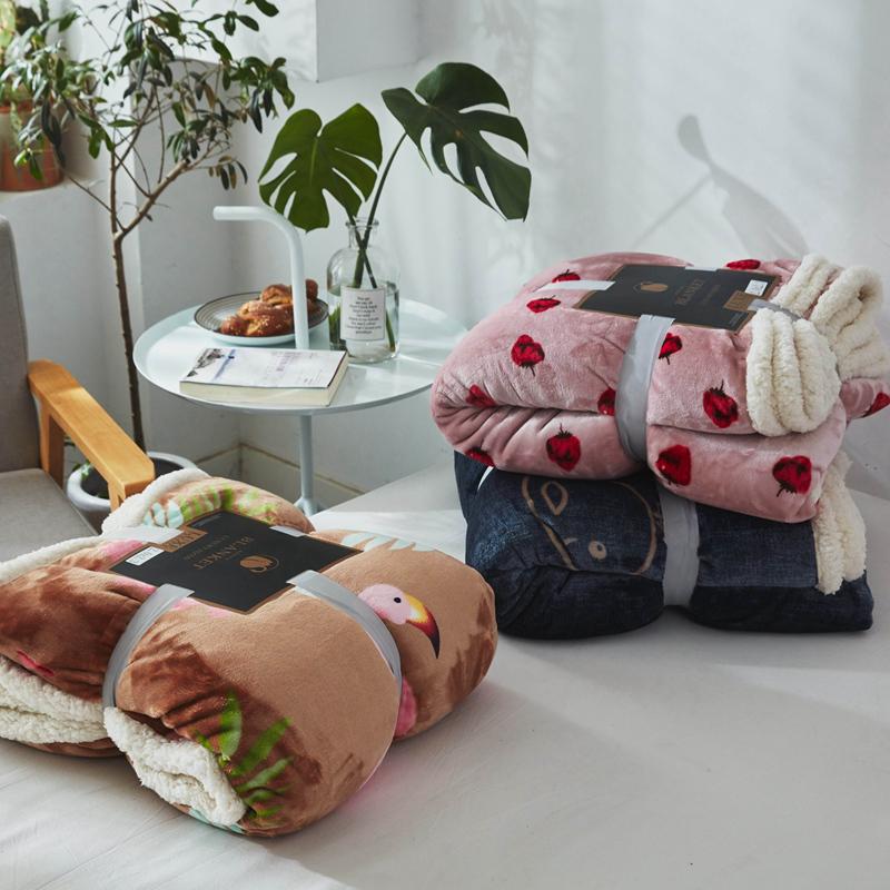 珊瑚绒羊羔绒毛毯加厚法兰绒小毯子午睡空调毯双层儿童毯宿舍床单