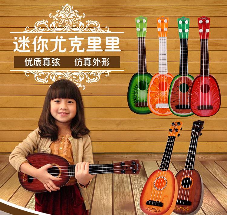 儿童尤克里里玩具可弹奏它仿真电子音乐男孩初学者入门乐器