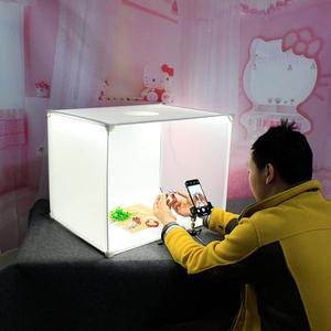 60cm摄影棚小型摄影拍照柔光箱产品拍摄折叠简易柔光灯补光灯道具