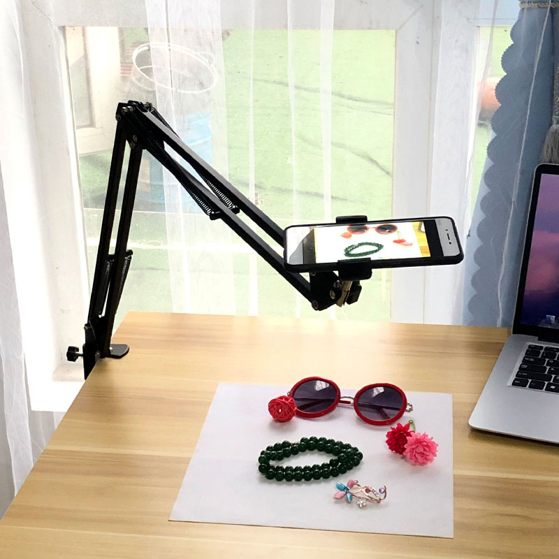 手机俯拍支架补光灯桌面固定拍摄微课绘画