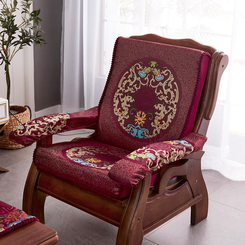 好多家老式红木沙发带靠背沙发垫