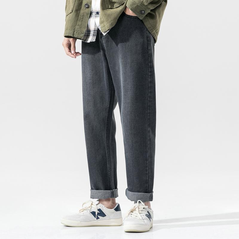 九分牛仔裤男士潮牌2020春款韩版宽松休闲裤DS672TP35
