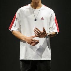 夏季新款短袖T恤男士帅气上衣潮流学生拼色纯棉半截袖t DS350TP25