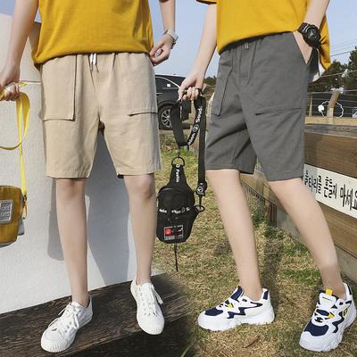 夏季新款男士五分裤运动沙滩中裤潮休闲纯棉短裤潮流DS109TP30