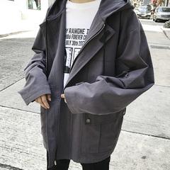 秋季男士宽松休闲上衣外套工装潮流学生夹克 控125 DS168TP110