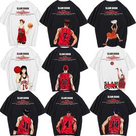 灌篮高手T恤男短袖篮球衣运动樱木花道动漫长袖夏科比纪念衣服桖图片