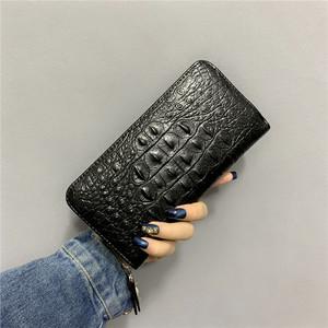 长款钱包男2021新款潮韩版个性青年鳄鱼纹钱夹男士商务拉链手拿包