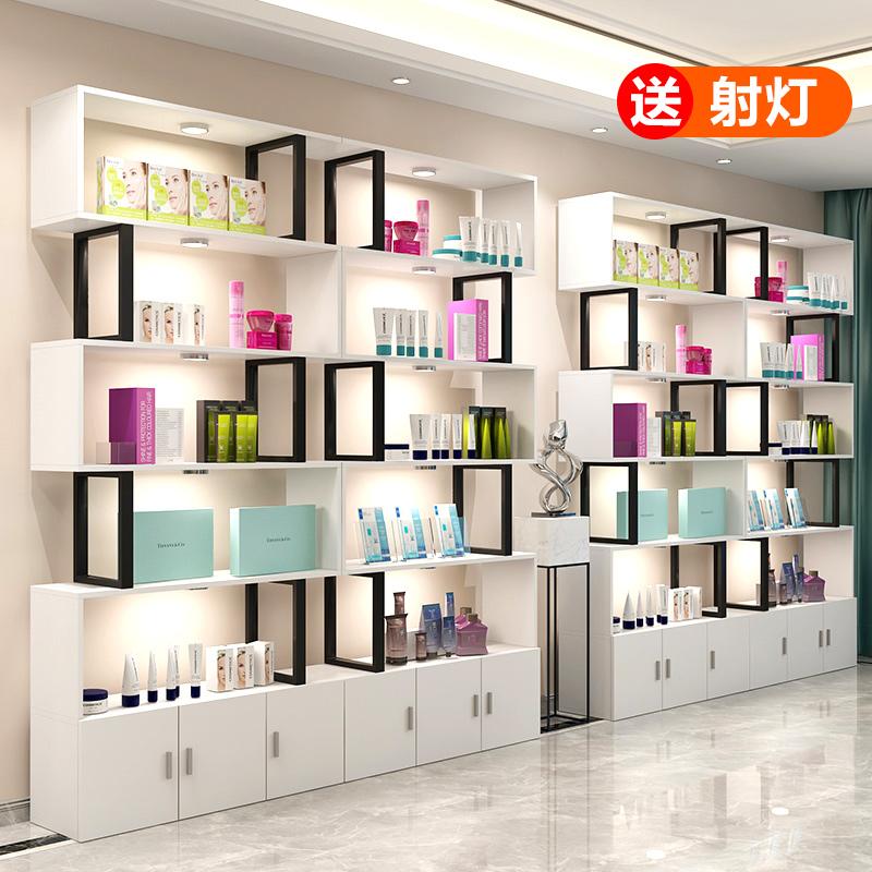 隔断化妆品展示柜美容院产品货架母婴店陈列展柜自由组合鞋店柜子