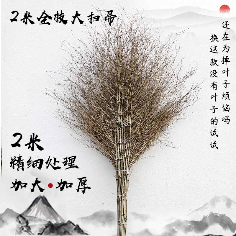 Zhejiang Natural Handmade outdoor road sanitation broom big broom courtyard factory broom outdoor cleaning family