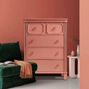 美式五斗柜实木卧室收纳储物柜抽屉柜玄关装饰柜客厅简约斗柜北欧图片