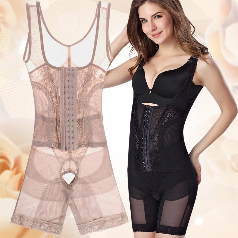 薄款透气三排扣收腹束腰连体塑身衣束身衣瘦身衣塑身内衣紧身衣女