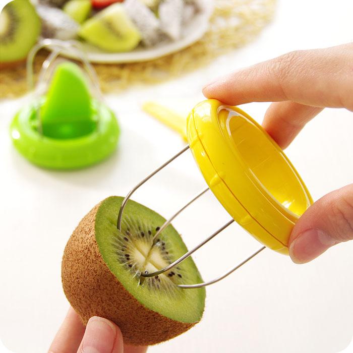 创意家居不锈钢猕猴桃去皮器奇异果专用削皮工具新鲜水果皮分割器