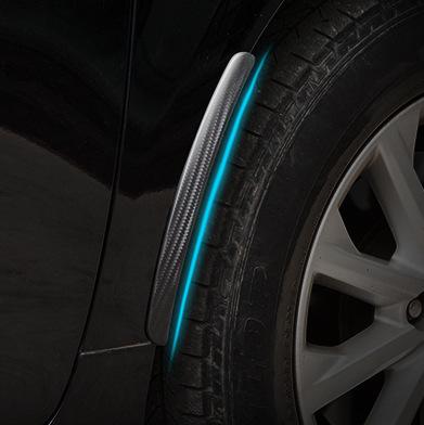 汽车轮眉防撞条 防撞胶汽车改装饰条车身通用叶子板轮弧挡泥板