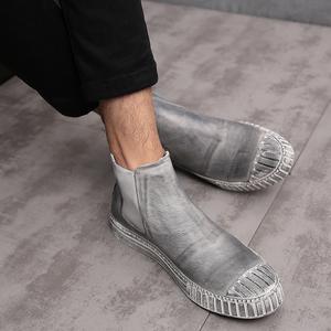 秋冬新款马丁靴男英伦加绒男士真皮切尔西皮靴潮流短靴高帮男鞋靴