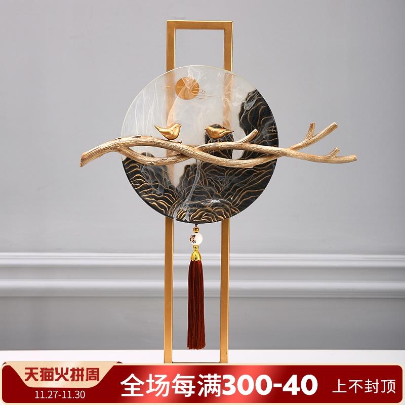 新中式摆件创意家居禅意工艺品客厅玄关办公室书房桌面装饰品摆设