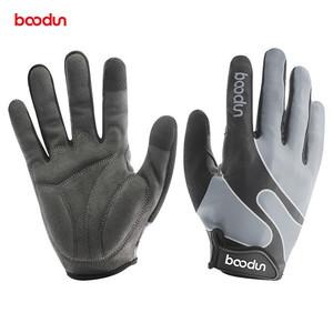 Boodun山地自行车长指全指运动手套触屏减震防滑公路骑行手套男女