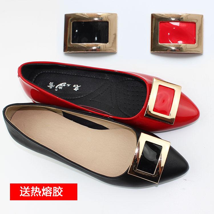 鞋花装饰扣配件凉鞋水钻五金百搭蝴蝶结金属韩版新款白色装饰品