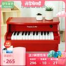 快乐年华儿童钢琴木质电子琴初学小男女孩宝宝音乐玩具3-6岁1迷你