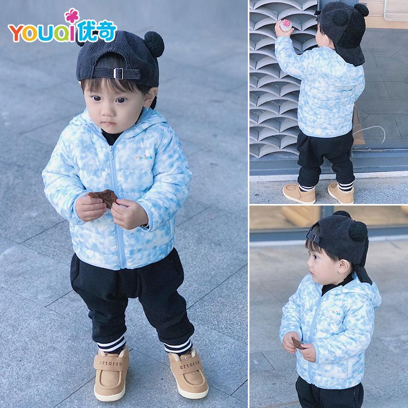 优奇儿童男童女童轻薄款羽绒服短款婴儿幼儿宝宝冬装保暖上衣外套